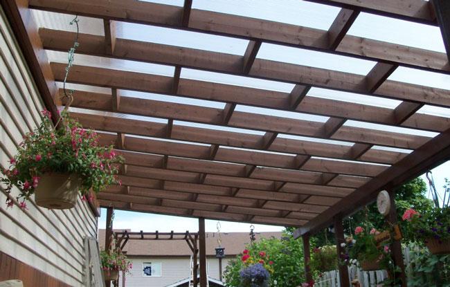 Coperture gazebi pergole in legno per giardini posti auto - Coperture per tettoie esterne ...